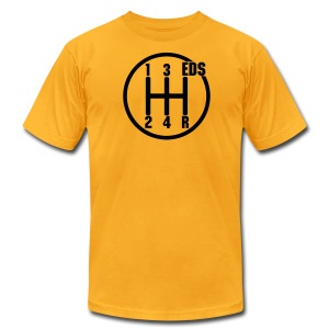 EDS Gearshift (Goldenrod) - Men's T-Shirt by American Apparel