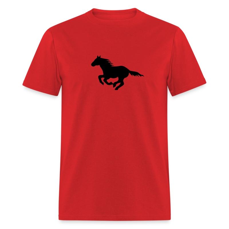 t-shirt pony horse i love horses unbridled wild  mustang unbridled rider equestrian horsemen horseman horseback - Men's T-Shirt