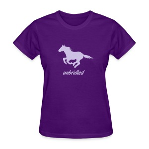 t-shirt pony horse i love horses unbridled wild  mustang unbridled rider equestrian horsemen horseman horseback - Women's T-Shirt