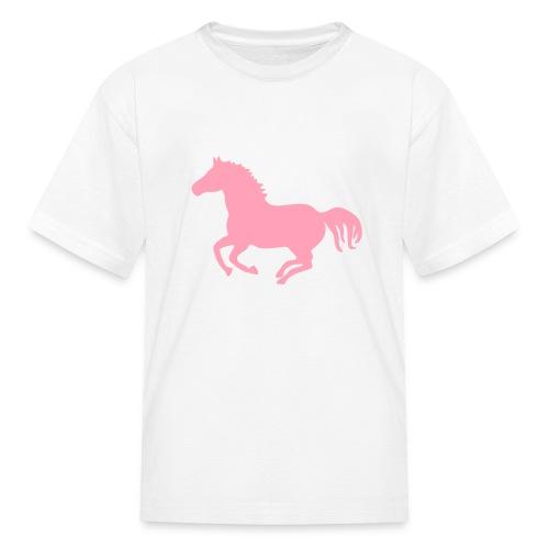 t-shirt pony horse i love horses unbridled wild  mustang unbridled rider equestrian horsemen horseman horseback - Kids' T-Shirt