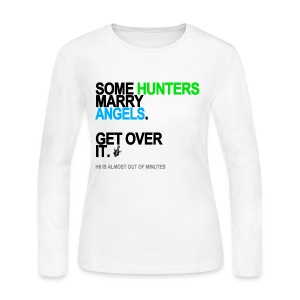 Some Hunters Marry Angels 2 Long Sleeve White - Women's Long Sleeve Jersey T-Shirt