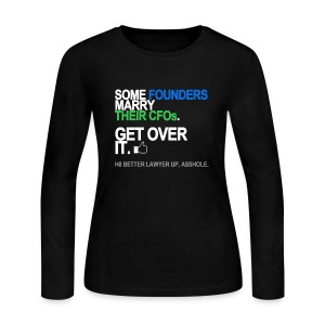 Some Founders Marry CFOs Long Sleeve - Women's Long Sleeve Jersey T-Shirt