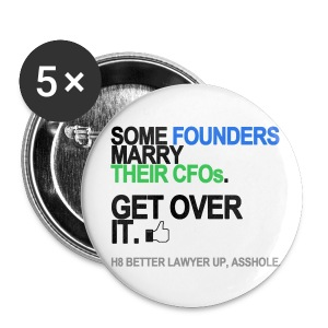 Some Founders Marry CFOs Buttons - Small Buttons