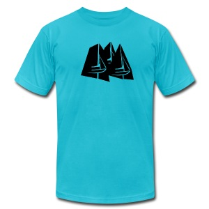 Tri gybe - Men's T-Shirt by American Apparel