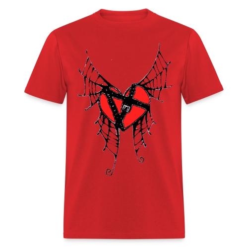 webbed winged heart with locket - Men's T-Shirt