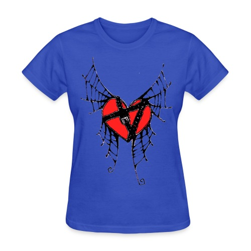 webbed winged heart with locket - Women's T-Shirt