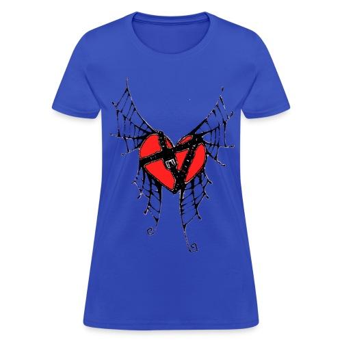 webbed winged heart with locket - Women's T-Shirt