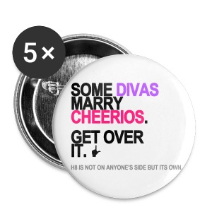 Some Divas Marry Cheerios Buttons - Small Buttons