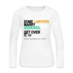Some Lawyers Marry Geniuses Long Sleeve White - Women's Long Sleeve Jersey T-Shirt