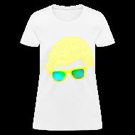 Women's T-Shirts ~ Women's T-Shirt ~ Yellow Glasses; WOMENS.