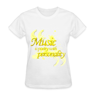 Women's T-Shirts ~ Women's T-Shirt ~ Music is poetry with personality