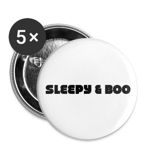 Sleepy & Boo buttons - Large Buttons