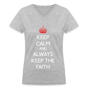 TVXQ - Keep Calm & AKTF - Women's V-Neck T-Shirt