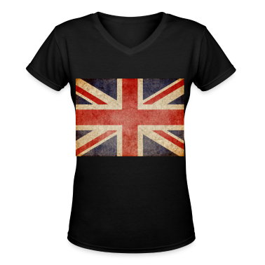 Faded UK Flag Women's T-Shirts