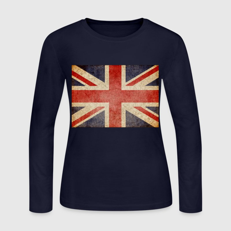 Faded uk flag long sleeve shirt spreadshirt for Faded color t shirts