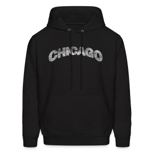 Distressed Chicago Arch - Men's Hoodie