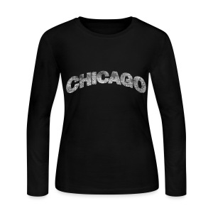 Distressed Chicago Arch - Women's Long Sleeve Jersey T-Shirt