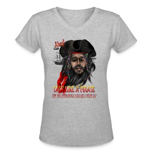 Talk Like A Pirate - Women's V-Neck T-Shirt