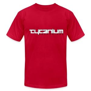 Tytanium Recordings 2-color Logo Tee (Selectable Colors) - Men's Fine Jersey T-Shirt