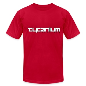 Tytanium Recordings 2-color Logo Tee (Selectable Colors) - Men's T-Shirt by American Apparel