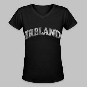 Distressed Ireland Arch - Women's V-Neck T-Shirt