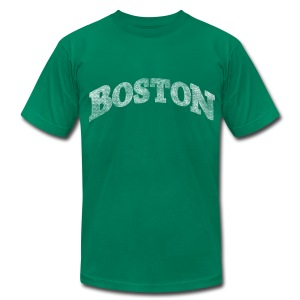 Distressed Boston Arch - Men's T-Shirt by American Apparel