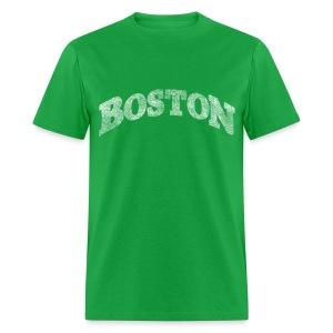 Distressed Boston Arch - Men's T-Shirt