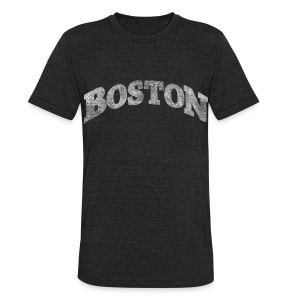 Distressed Boston Arch - Unisex Tri-Blend T-Shirt by American Apparel