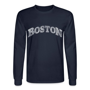 Distressed Boston Arch - Men's Long Sleeve T-Shirt
