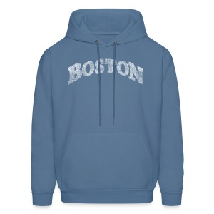 Distressed Boston Arch - Men's Hoodie