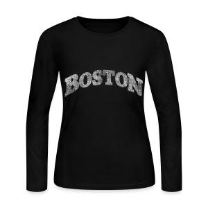 Distressed Boston Arch - Women's Long Sleeve Jersey T-Shirt