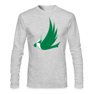 Long Sleeve Shirts ~ Men's Long Sleeve T-Shirt by American Apparel ~ Long-Sleeved Osprey Shirt - Green Print