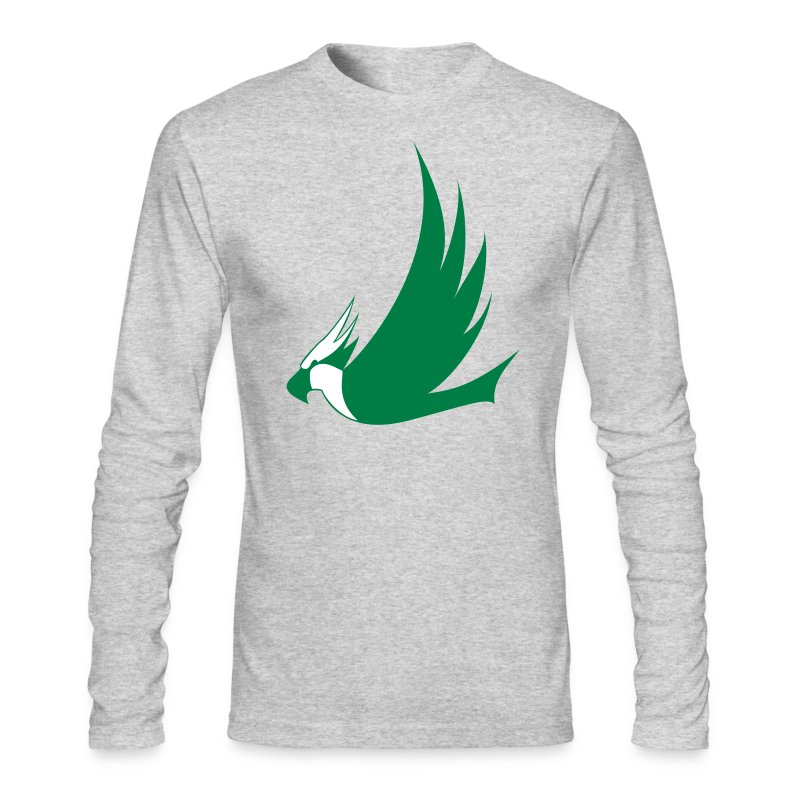 Long-Sleeved Osprey Shirt - Green Print - Men's Long Sleeve T-Shirt by Next Level