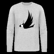 Long Sleeve Shirts ~ Men's Long Sleeve T-Shirt by Next Level ~ Long-Sleeved Osprey Shirt - Black Print