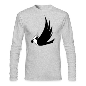 Long-Sleeved Osprey Shirt - Black Print - Men's Long Sleeve T-Shirt by Next Level