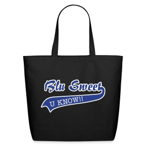 Blu Sweet U KNOW!! Large Tote - Eco-Friendly Cotton Tote