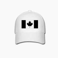 Canadian Flag Subdued fitted hat