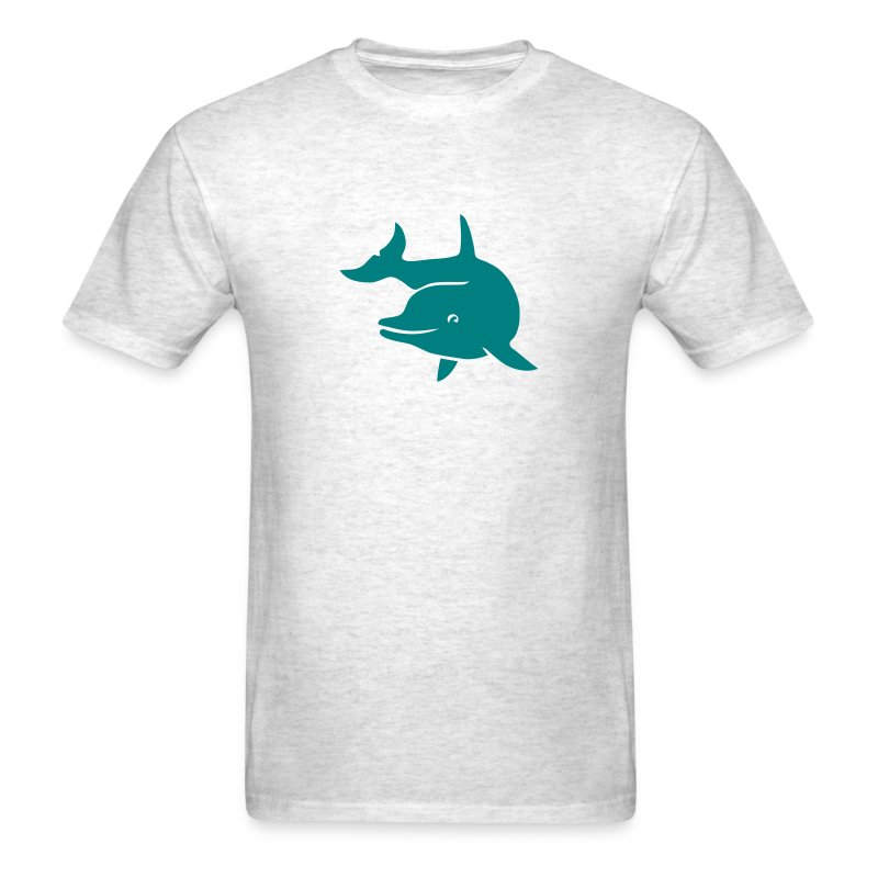 t-shirt porpoise dolphin flipper fin ocean free wild - Men's T-Shirt