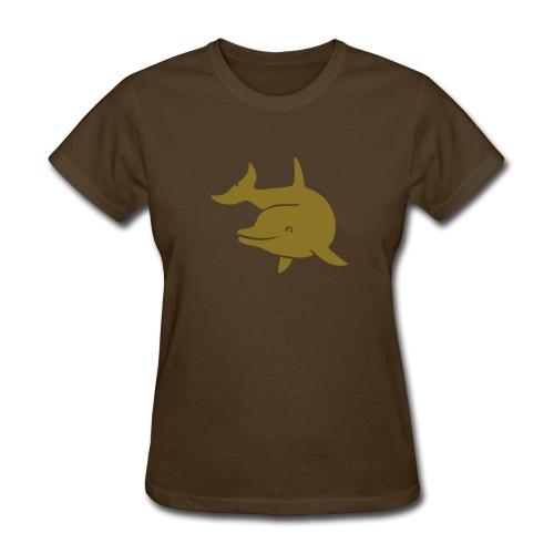 t-shirt porpoise dolphin flipper fin ocean free wild - Women's T-Shirt