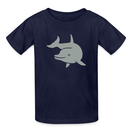 t-shirt porpoise dolphin flipper fin ocean free wild - Kids' T-Shirt