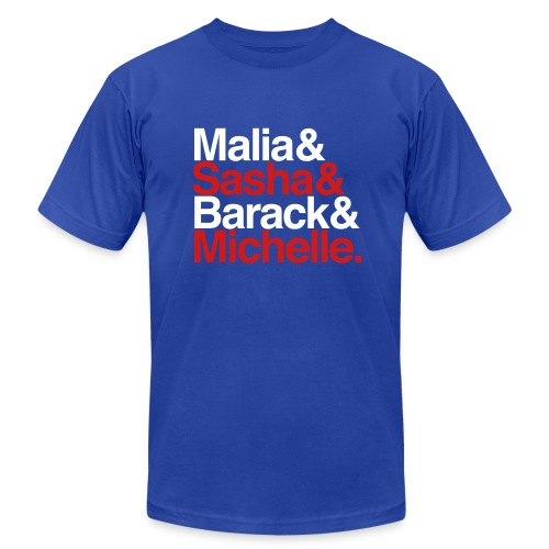 Obamas - Patriotic - Men's T-Shirt by American Apparel