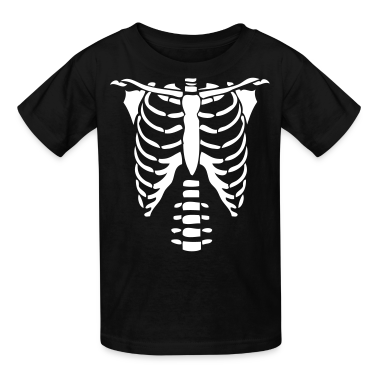 Skeleton Torso Halloween Costume Kids T Shirts