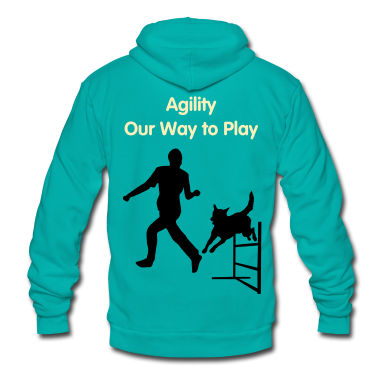 Dog Jumps Agility Hurdle Zip Hoodies/Jackets