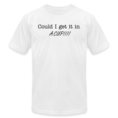In a cup - Men's Fine Jersey T-Shirt