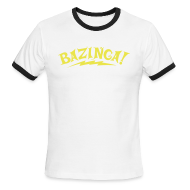 T-Shirts ~ Men's Ringer T-Shirt ~ BAZINGA Sports T-Shirt