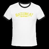 T-Shirts ~ Men's Ringer T-Shirt by American Apparel ~ BAZINGA Sports T-Shirt