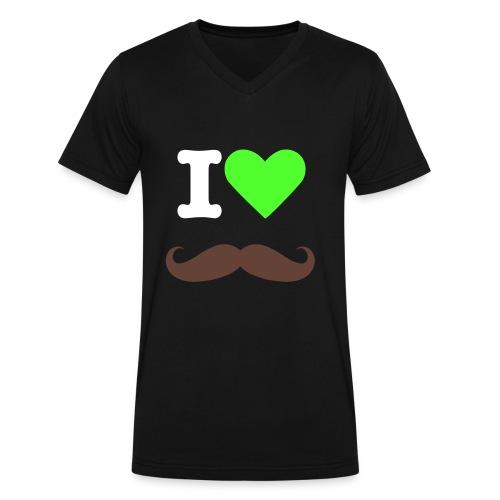 I Heart Mustache - Men's V-Neck T-Shirt by Canvas