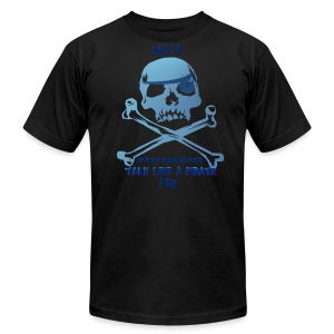 Talk Like A Pirate Skull And Crossbones - Men's T-Shirt by American Apparel