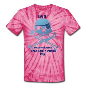 Talk Like A Pirate Skull And Crossbones - Unisex Tie Dye T-Shirt