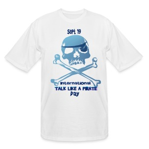 Talk Like A Pirate Skull And Crossbones - Men's Tall T-Shirt